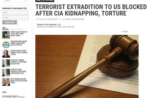 Times Sabir K. to US Blocked after CIA kidnapping Torture